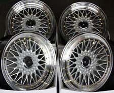 """16"""" Silver Outlaw es1 alloy wheels Fits 5x100 Seat Ibiza Leon Skoda Fabia"""