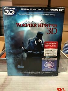Abraham Lincoln: Vampire Hunter 3D (Blu-ray/DVD, 2012) NEW w/ OOP MINT SLIPCOVER