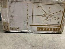 """Quorum Carnegie 16525-6, 52"""" Ceiling Fan, White Gloss"""