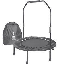 Cellerciser Pro Tri-Fold Rebounder with Stabalizing Bar & Carrying Case on Dolly