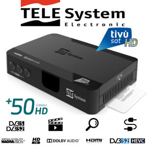 TivùSat TELESystem TS9018HEVC HD + Tivusat HD SmartCard* Italian TV – FREE GIFT