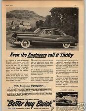 1950 PAPER AD Car Auto Buick F-263 Fireball Engine Super Safety-Ride Rims Fisher