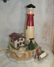 Handmade Lighthouse Display with Lighted Tower