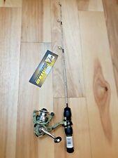 "New HT Fish Hunter Camo 24"" Light Ice Fishing Rod & Spinning Reel Combo FREE S+H"