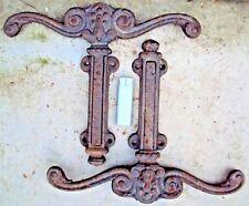Deux bloc porte,ou portail en fonte 19 ème