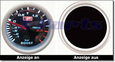 PLASMA Boost guage 52mm 3 BAR Auto gauge Boost pressure Turbo Komprssor NEW