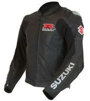 SUZUKI GSXR Biker Motorcycle Mens Leather Jacket Racing Motorbike Leather Jacket