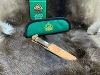 """Puma Vintage Hirschhorn Griff (Deer Stag) Scout Knife Leather Sheath Mint """"A2"""""""