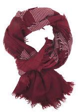 Pañuelo Mujer Rojo Blanco Ella Jonte Ligero Bufanda FLECOS Algodón Viscosa