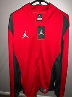 Nike Jordan Flight Team Men's Basketball Gym Training Track Jacket Red New L, XL