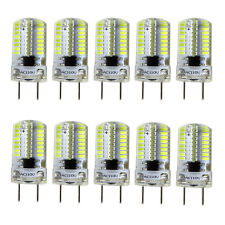 10pcs G8 Bi-Pin T5 64 3014 SMD LED Light Bulb Dimmable Lamp White 6500K/120V