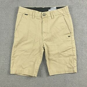 Fox Youth Boys Chino Shorts Size 12/26 Selector Beige Slim Fit Cotton Blend