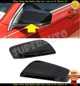 Fits 2014-2020 Chevrolet Impala 2pcs Glossy Black Top Half Mirror Cover Overlay