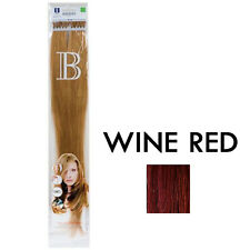 Fill-in Extensions Balmain 45cm micro Plusbond Wine Red straight