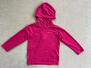 Mountain Warehouse Girls Pink Hooded Fleece Hoody Age 7-8