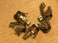 """Set of 5 Vintage 1950s Switchcraft 1/4"""" Jacks for Mic Cable Guitar Amp 1 NOS!"""