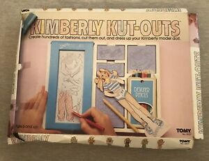 Vintage 1983 Tomy Kimberly Kut-Outs Fashion Designer Plates Paper Doll Set Toy
