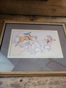Bernard Willington Horses Hunting Fox Hunting Painting Watercolour Original