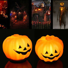 Halloween Pumpkin Jack-O-Lantern Orange LED Light Festival Home Prop Decorations