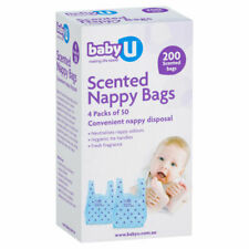Baby U Scented Nappy Bags - 200 Pack