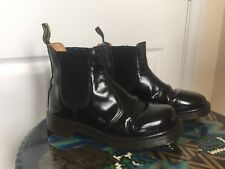 110❤️ Black Leather Chelsea Pull On Girls Ladies Boots Dr Martens Size Uk 5