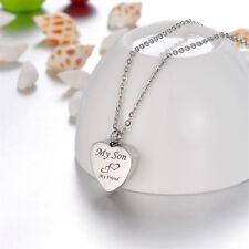 Cremation Jewelry Ashes Urn Pendant Keepsake Memorial Necklace Locket Relatives Son