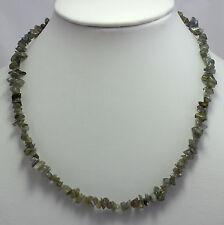 natural Labradorita Cadena de minerales (45 cm largos,piedras preciosas,collar