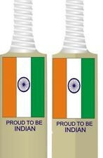 BRAND NEW CRICKET BAT INDIA FLAG STICKERS PROUD TO BE INDIAN - PREMIUM QUALITY