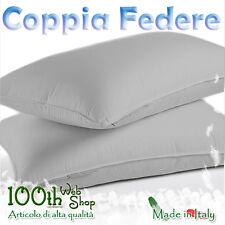 COPPIA FEDERE 52X82 100% COTONE GRIGIO GRIGE FEDERA GUANCIALE CPFDGRG