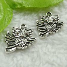 Free Ship 70 pieces tibet silver owl charms 20x17mm #1471