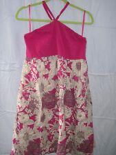 Liberty of London Target Dress Women Large L Pink Floral Halter Cotton LOL