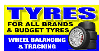 TYRES SIGN BANNER OUTDOOR SIGNS SHOP VINYL BANNERS PVC