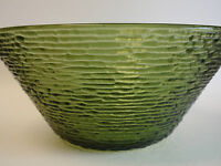 Vintage Anchor Hocking Avocado Green Soreno Large Salad Serving Bowl 4qt Retro