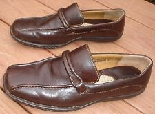 Born Hand Crafted Brown Leather Slip On Loafers 8 1/2 M Very Good Condition