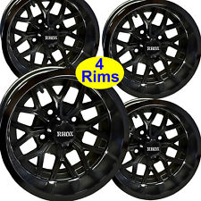 4) Golf Cart RIM WHEEL 12x6 4/4 3+3 RHOX RX284-B for EZ-Go Club Car Yamaha more