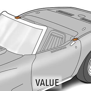 1969-1975 Corvette C3 Convertible Body Lock Pillar Seals Pair 642858
