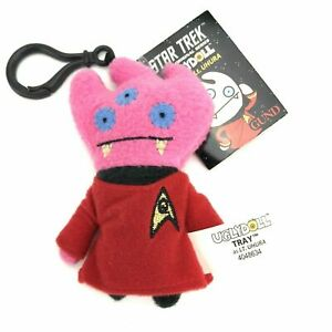 Gund Uglydoll Star Trek Plush Doll 4 1/2 in Keychain Tray as Lt. Uhuru