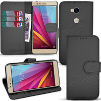 For Huawei Honor 5X - Wallet Leather Case Flip Book Cover +Screen Guard & Stylus
