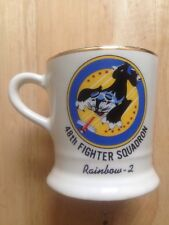1970s 48TH FIGHTER SQUADRON UNITED STATES AIR FORCE COFFEE MUG, RAINBOW 2
