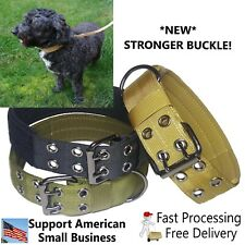 Large Heavy Duty Nylon Dog Collar w/ New Stronger Metal Buckle Tactical Military