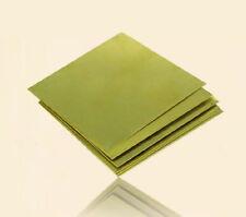 H62 Delgado Chapa de latón Placa plana 0.5 mm de espesor 10*20 cm 4*8 pulgadas