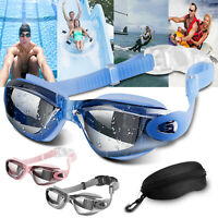 Mirror Swimming Goggles Anti-Fog Swim Glasses UV Protection For Adults Women Men
