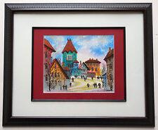 "Anatole Krasnyansky ""Outskirts of Riga"" Framed Ltd Edition Serigraph Hand Signed"