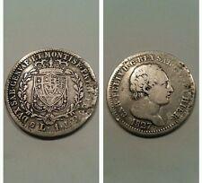 Carlo Felice 1 lira 1827 Genova