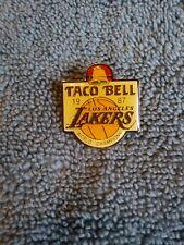 Vintage NBA Lakers World Championship Pin 1987 Taco Bell 👍