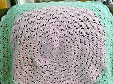 New! Handmade Crochet Baby Blanket Throw Afghan - pink, green