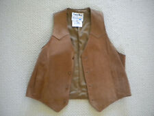 Vintage Men's Pioneer Wear Leather Vest Size 44