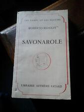 ROBERTO RIDOLFI SAVONAROLE ED FAYARD