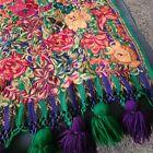 Vintage Huipil Tapestry Table Runber Guatamalan Boho Decor