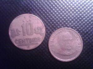 PERU   10  CENTIMOS   1985   1992     JUl31F